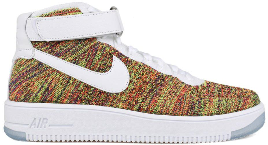 Nike Air Force 1 Mid Flyknit Multi-Color White