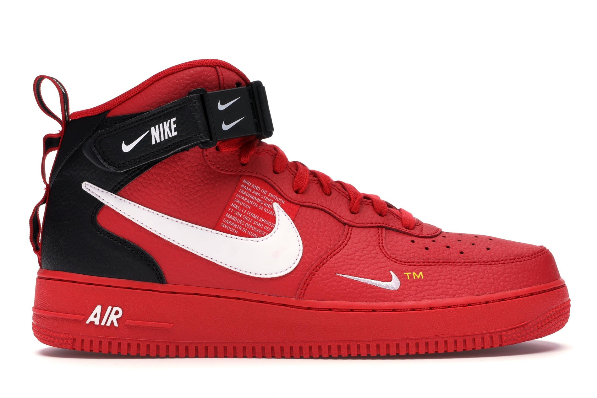Nike Air Force 1 Mid Utility University Red - 804609-605