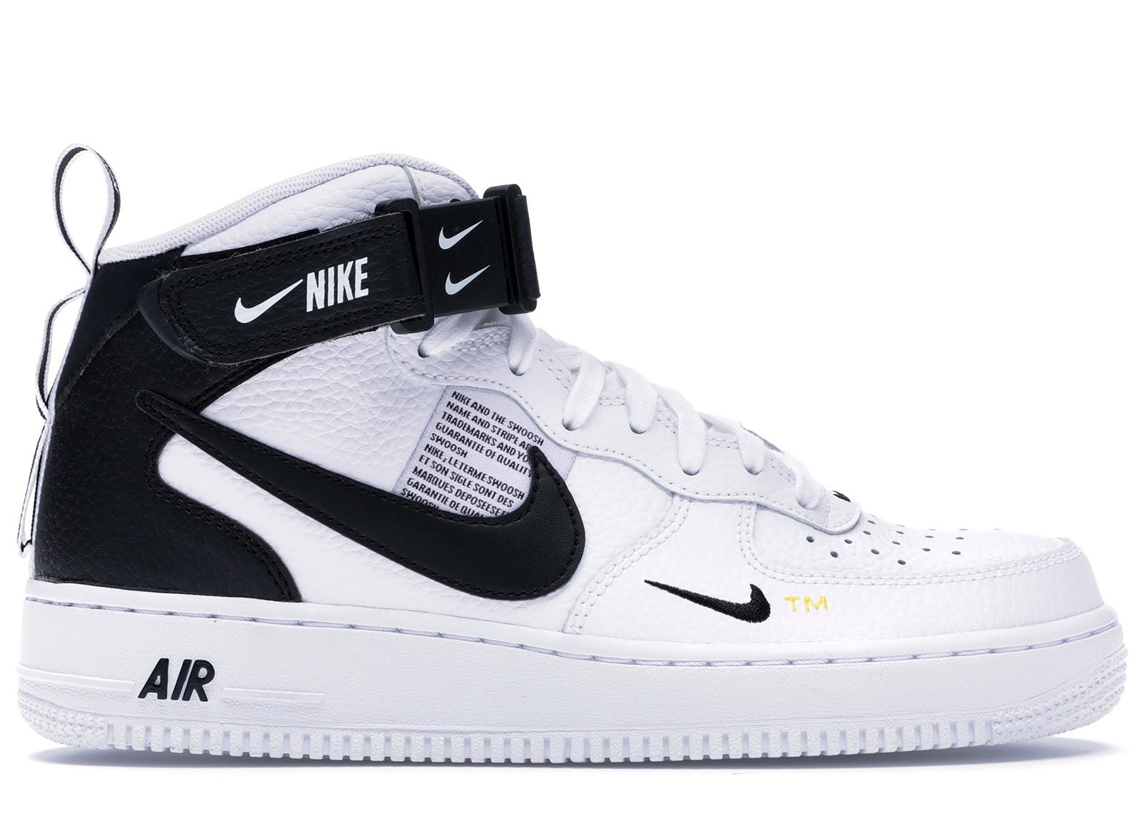 Nike Air Force 1 Mid Utility White Black - 804609-103