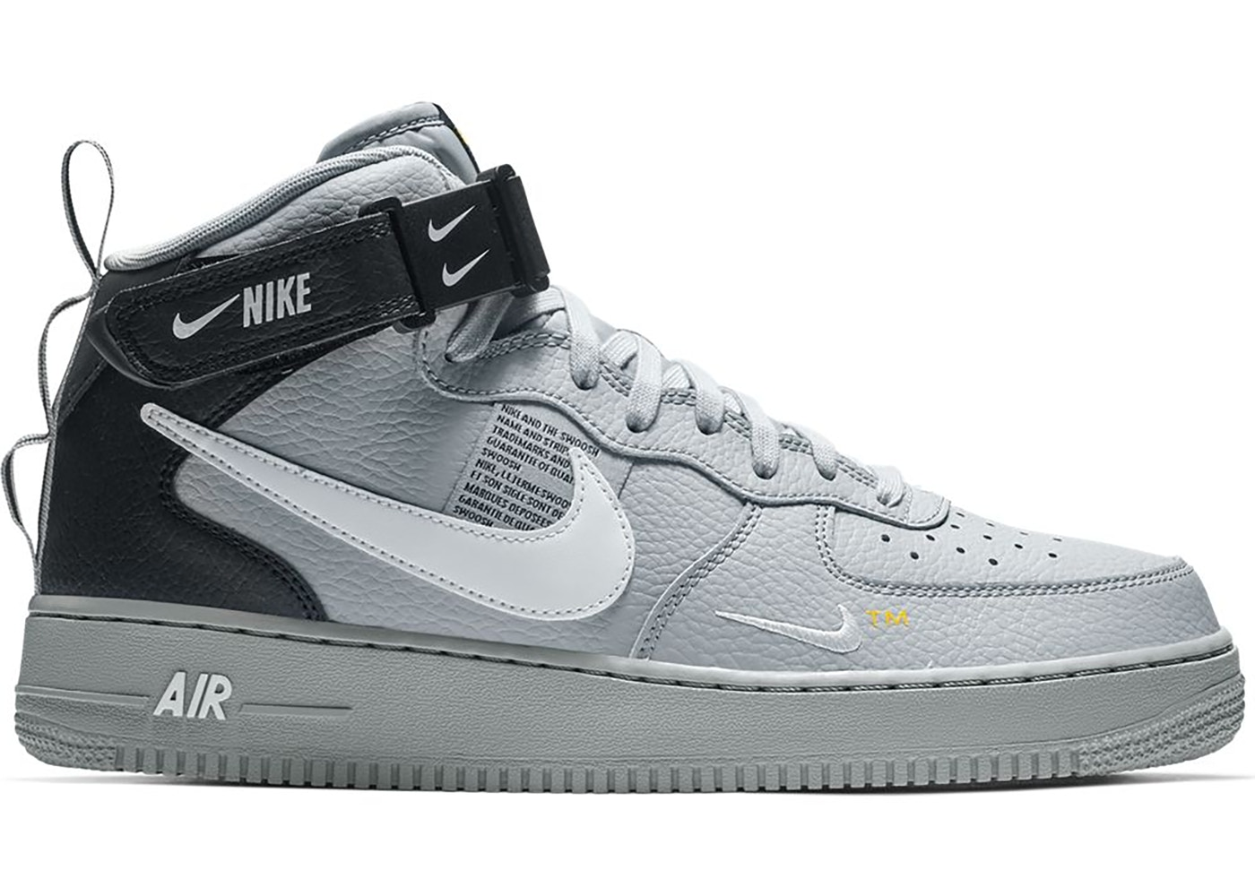 Nike Air Force 1 Mid Utility Wolf Grey Black