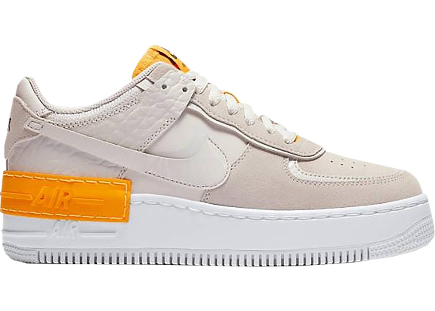 Nike Air Force 1 Shadow Vast Grey Laser Orange (W)
