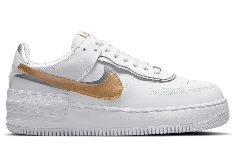 Nike Air Force 1 Shadow White Gold (W)