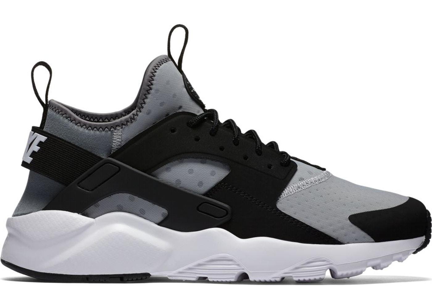 nike huarache black grey