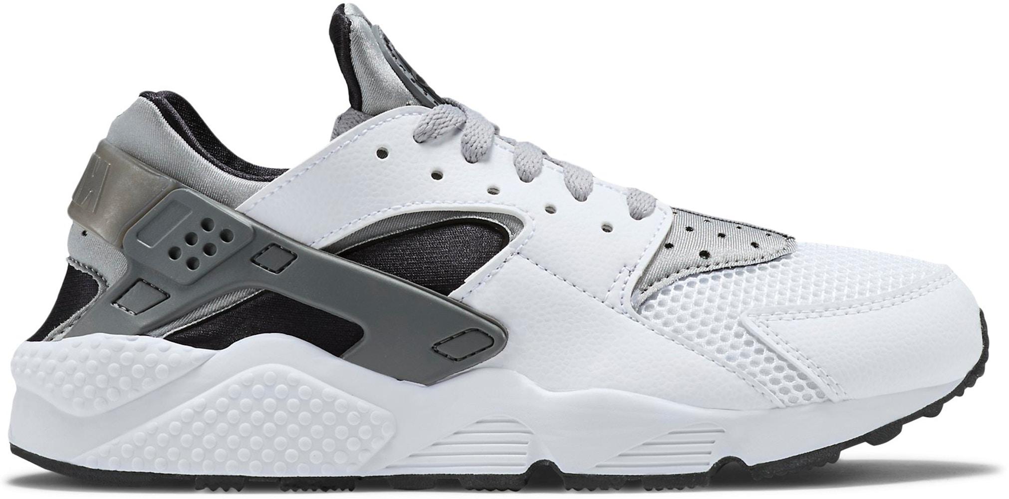 Nike Air Huarache Run White Wolf Grey Black - 318429-101