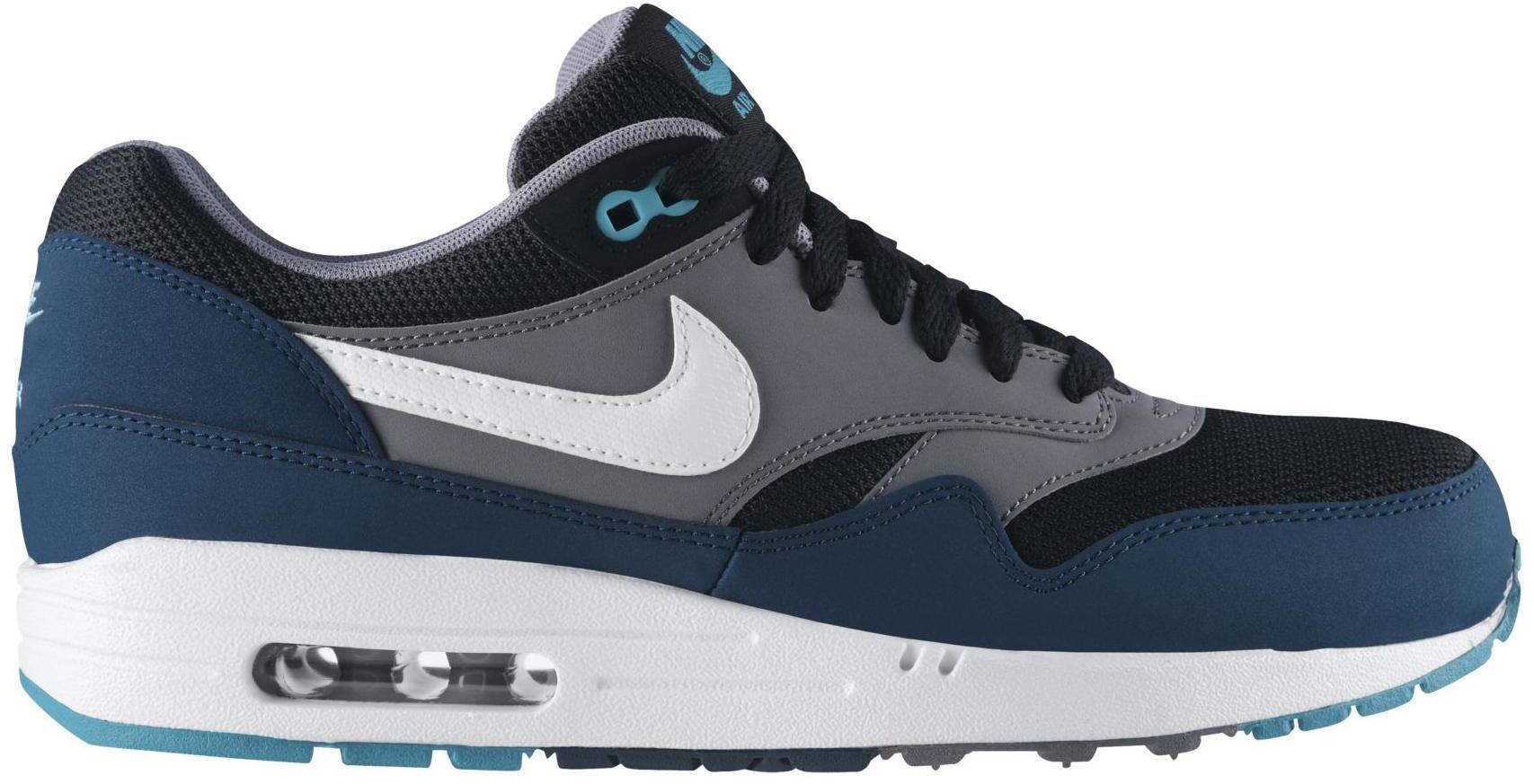 Nike Air Max 1 Black Mid Turquoise - 537383-013