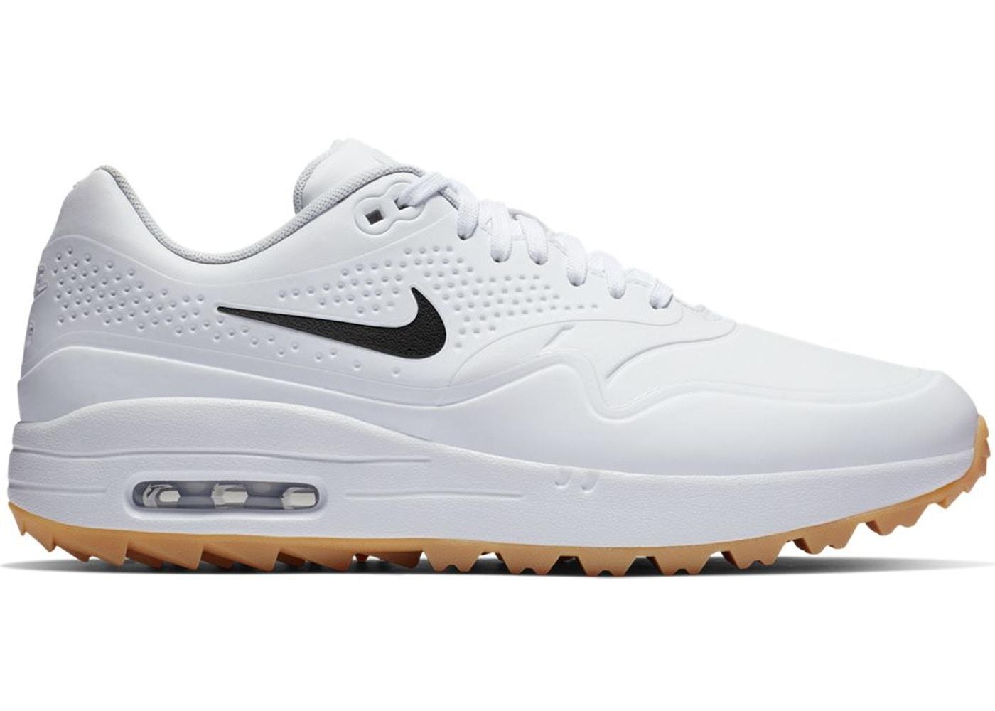 Nike Air Max 1 Golf White Gum Black Swoosh - AQ0863-101B