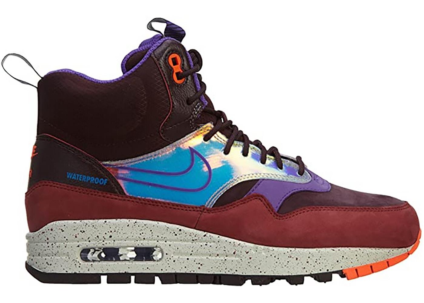 Nike Air Max 1 Mid Sneakerboot Deep Burgundy (W)