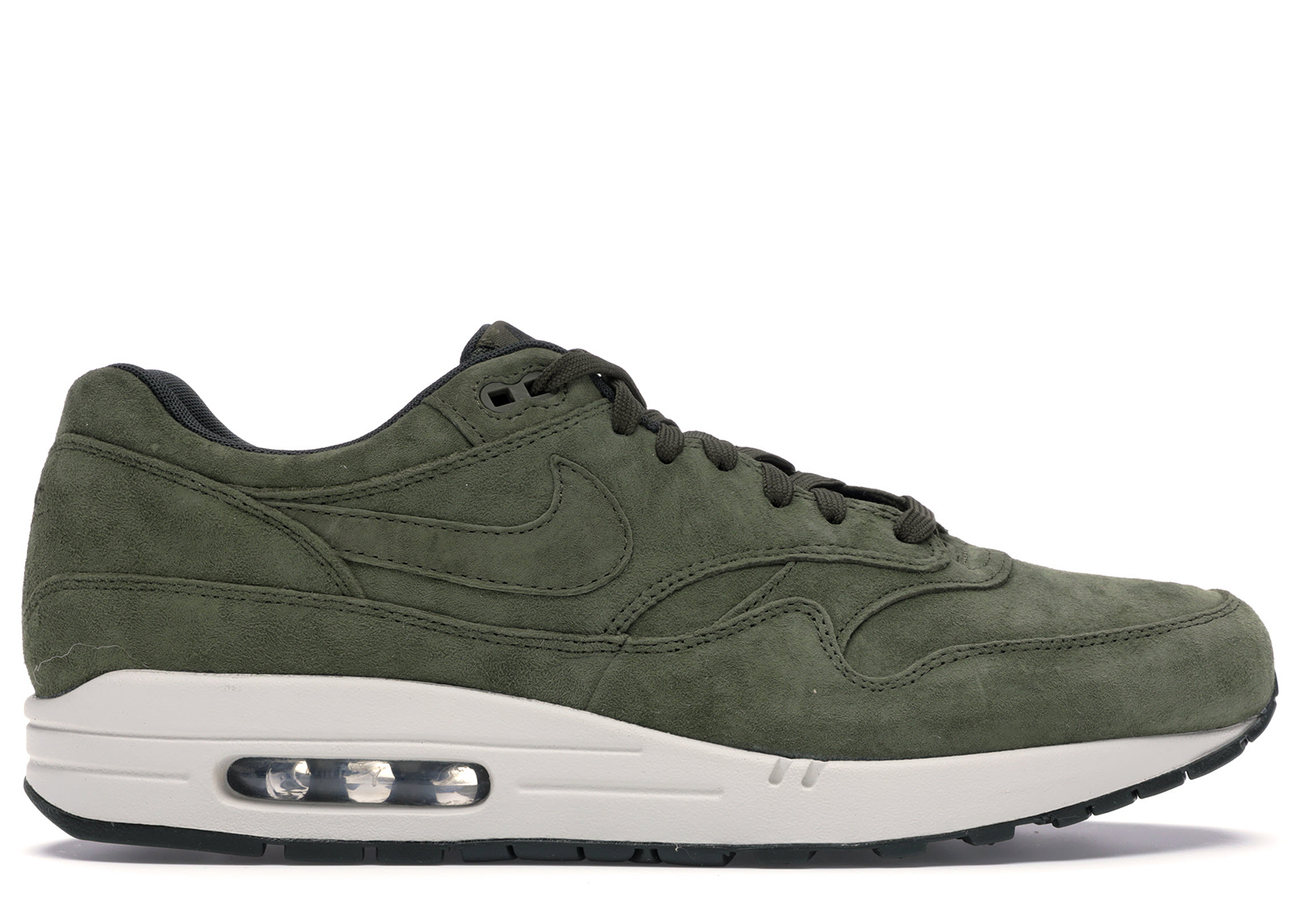 Nike Air Max 1 Olive Canvas Suede - 875844-301