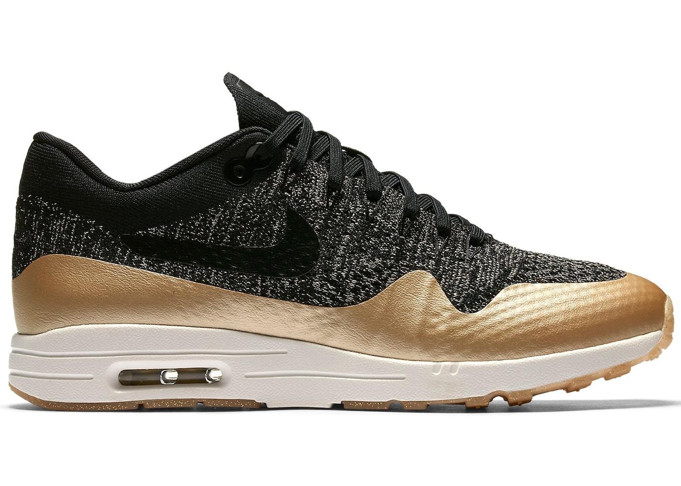 Nike Air Max 1 Ultra Flyknit Metallic Gold (W) - 881195-001