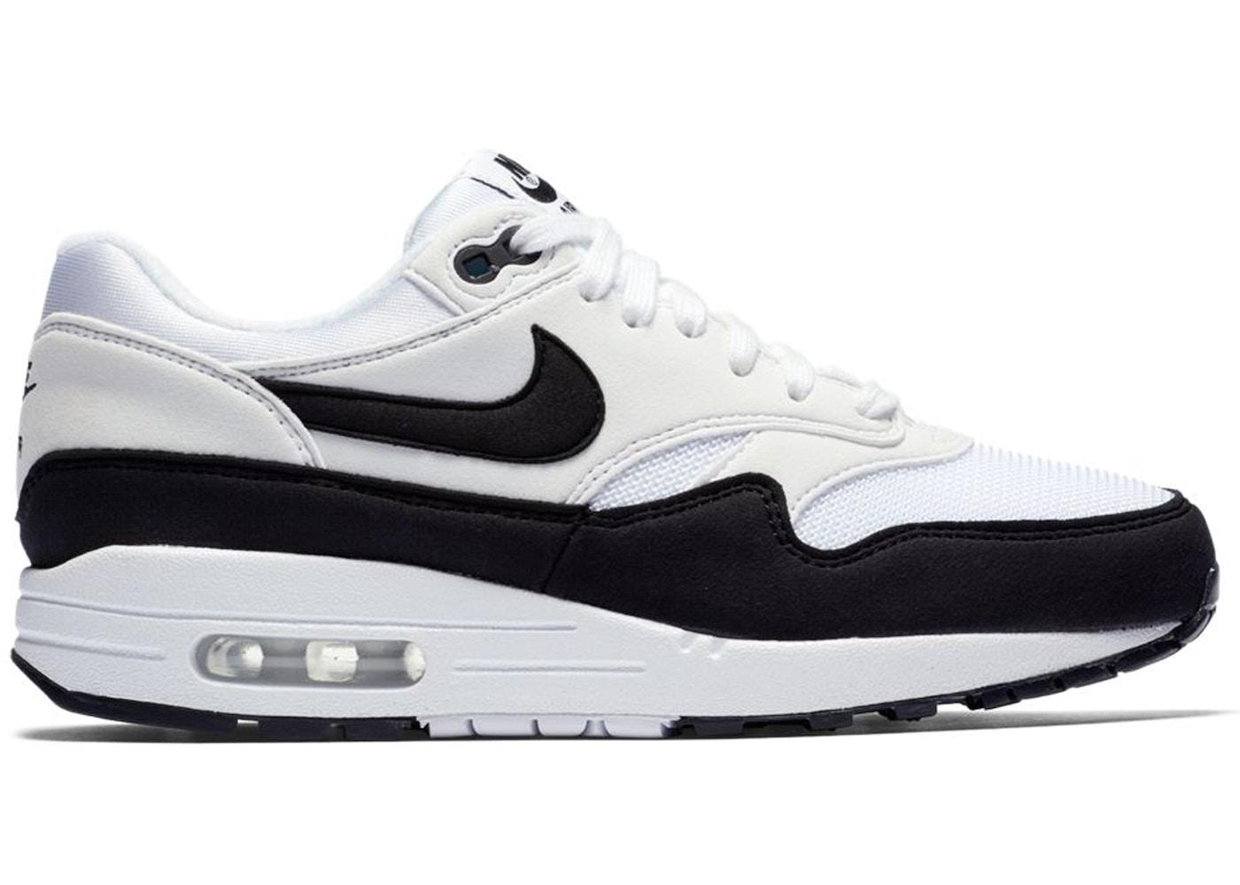 Alcanzar Insustituible código Morse  Nike Air Max 1 White Black (W) - 319986-109