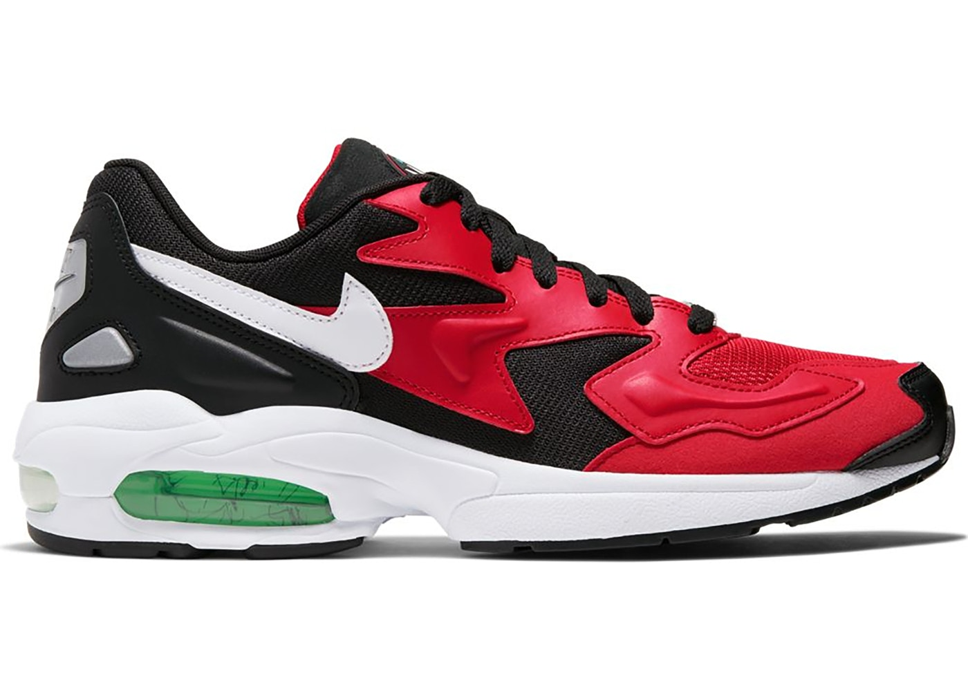 Nike Air Max 2 Light Black Red Electro Green - AO1741-003