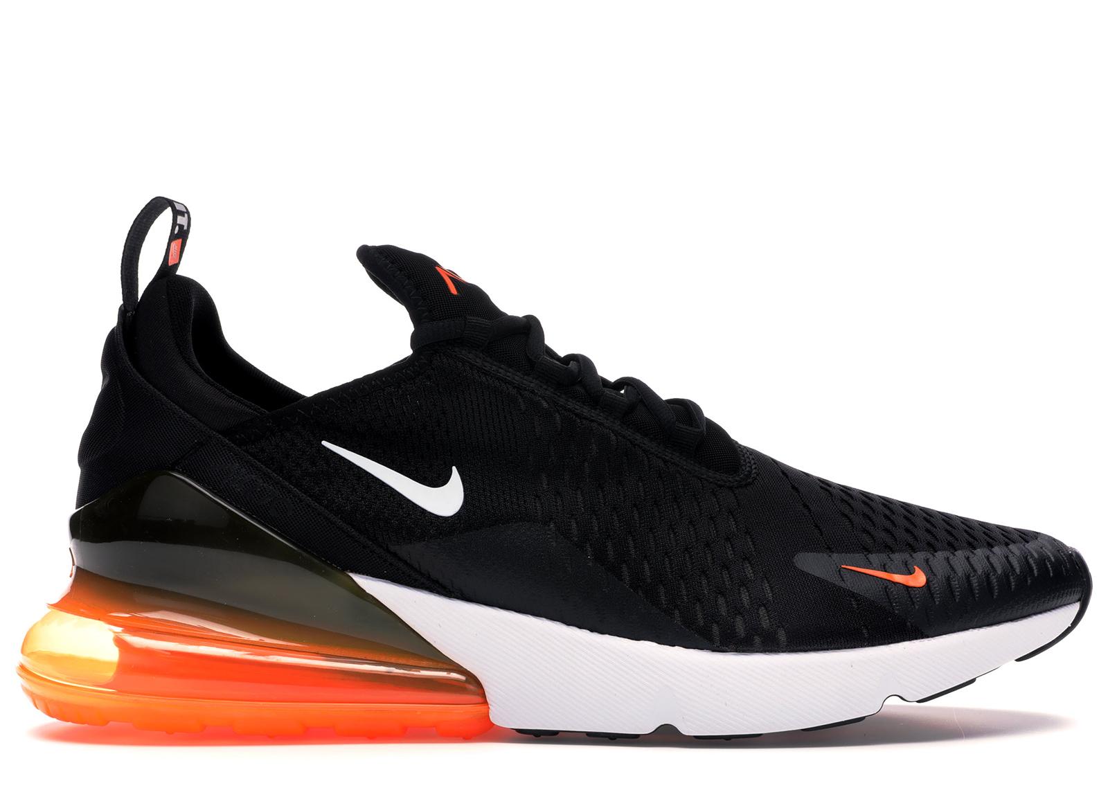 Nike Air Max 270 Black White Total Orange - AH8050-014