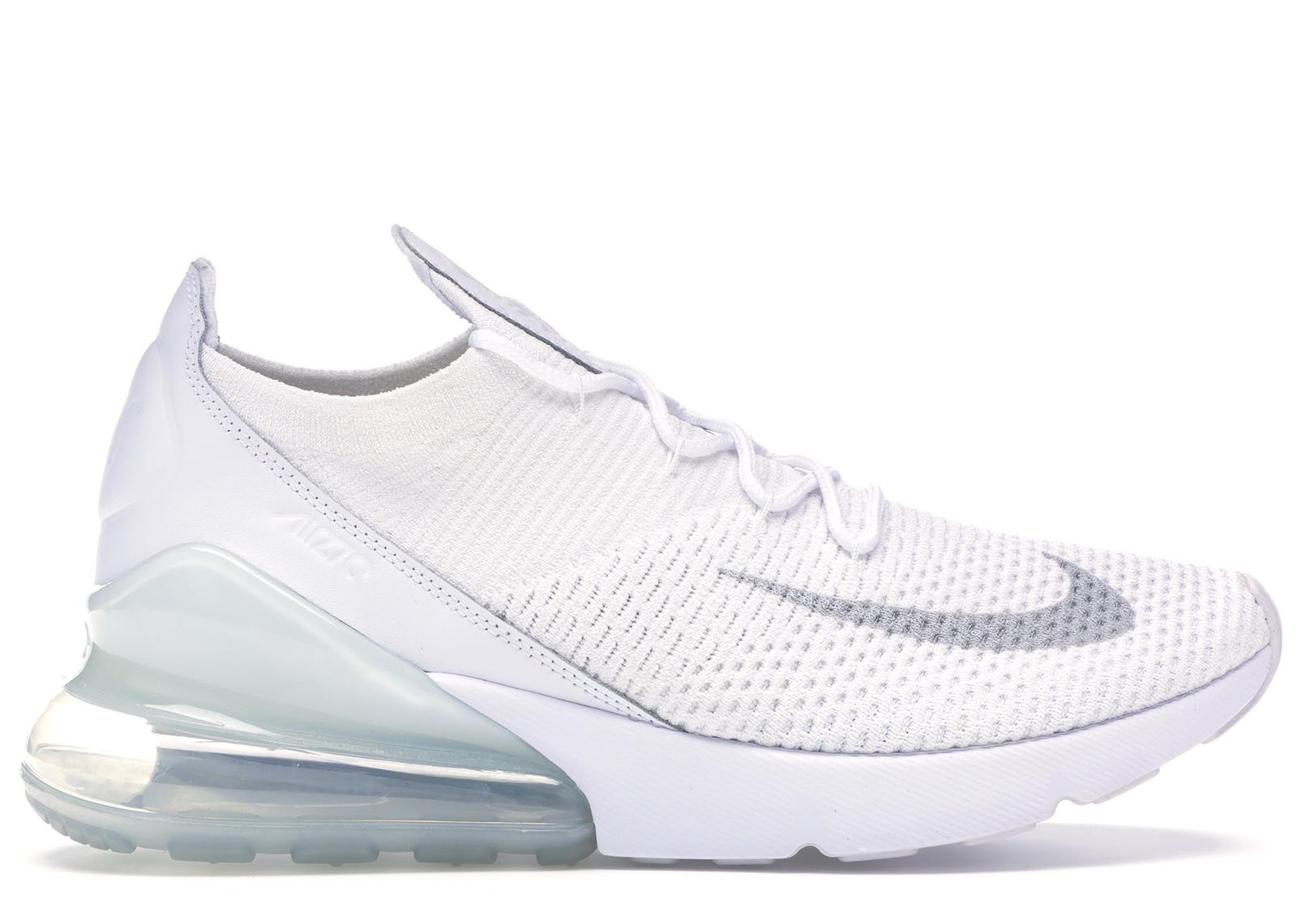 Nike Air Max 270 Flyknit Triple White
