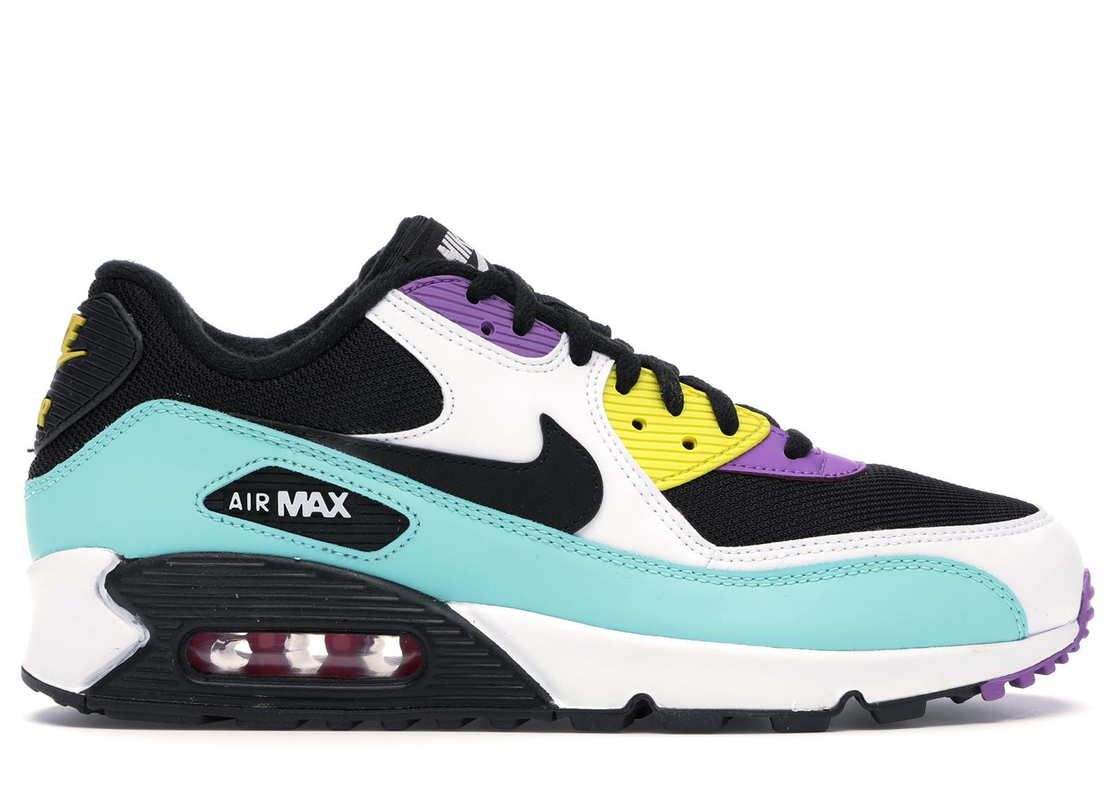 Nike Air Max 90 Black Bright Violet White - AJ1285-024