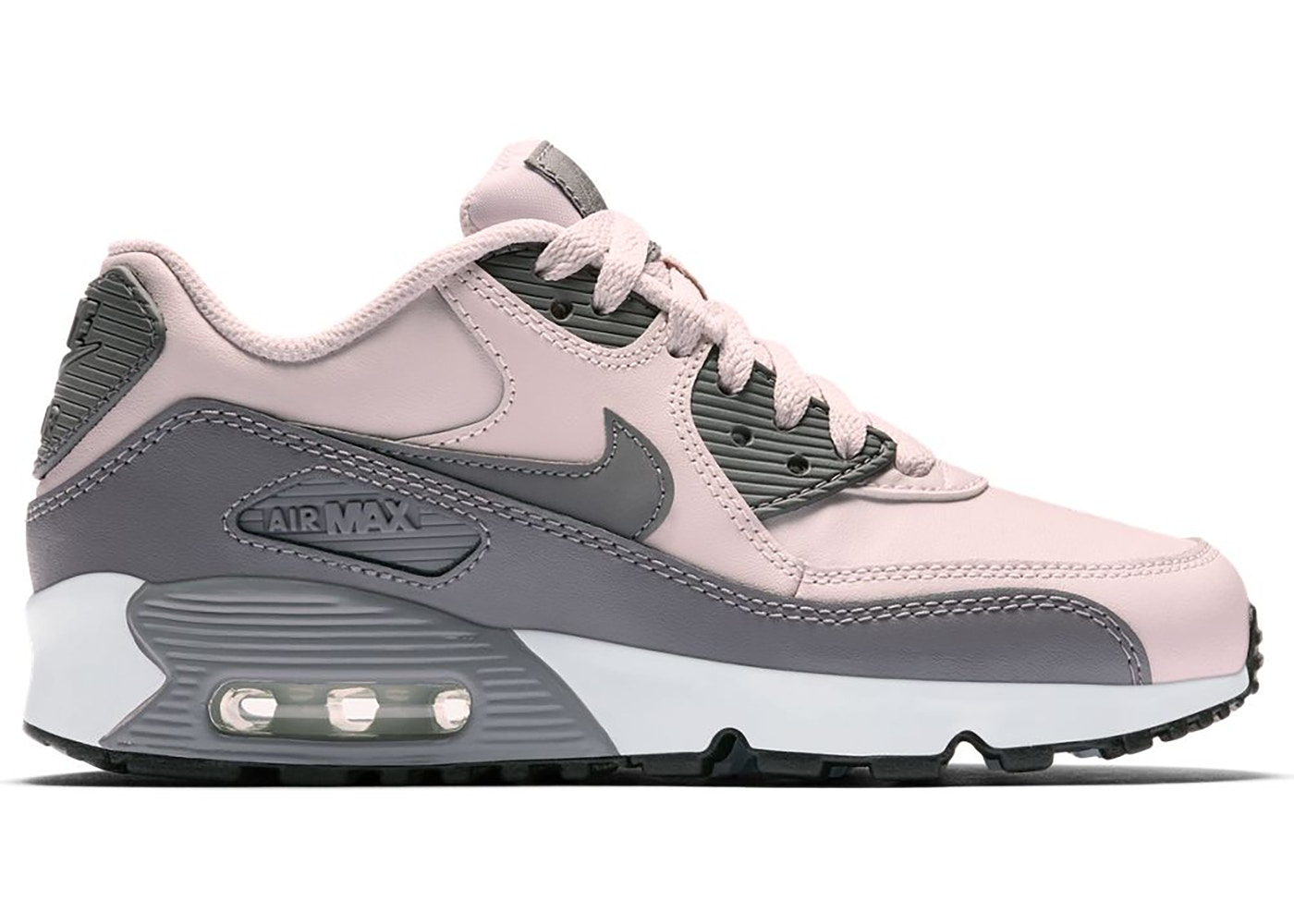 Nike Air Max 90 Leather Barely Rose (GS) - 833376-601