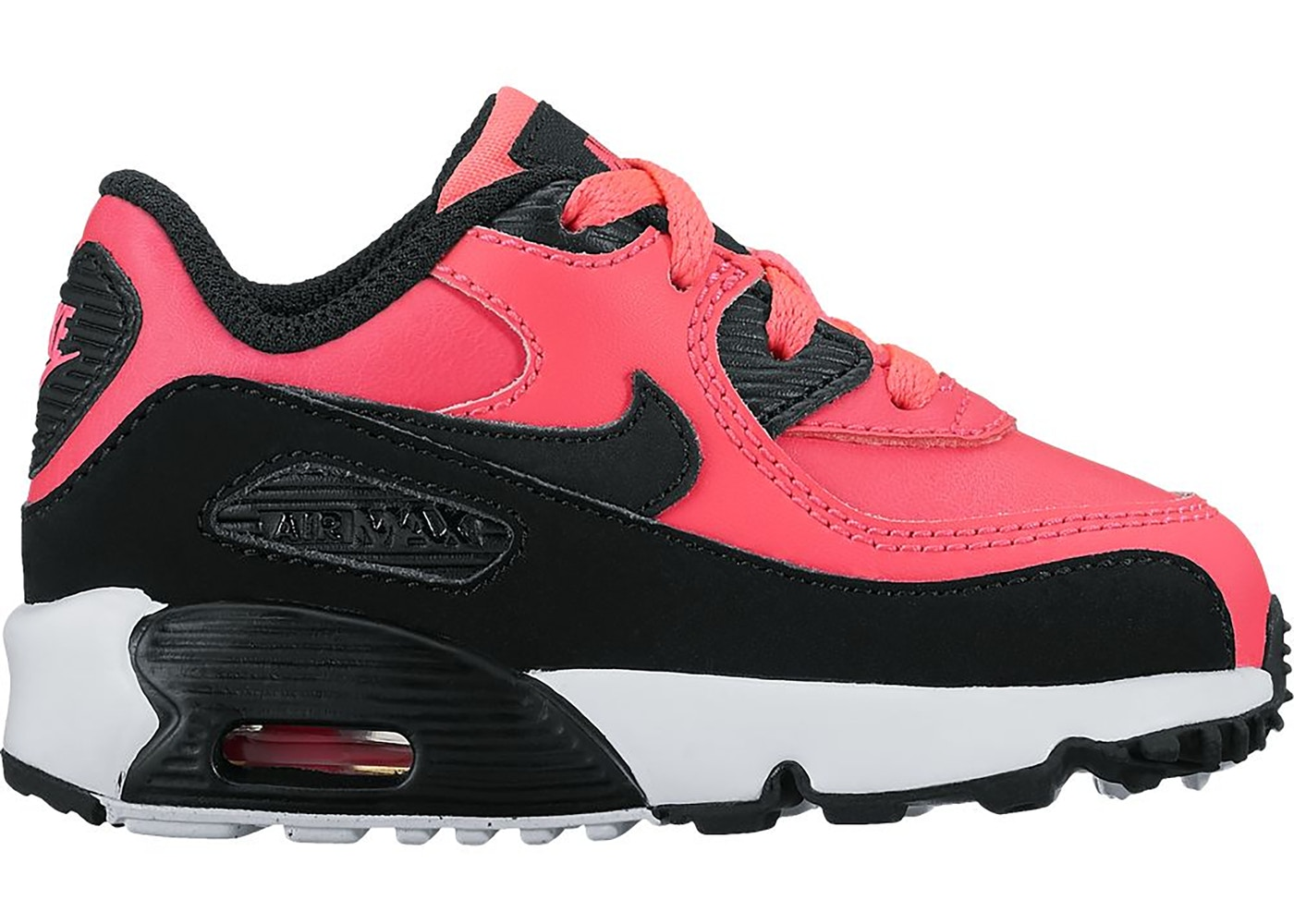 Nike Air Max 90 Leather Racer Pink Black (TD) - 843379-600