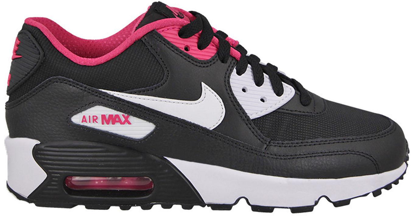 Nike Air Max 90 Mesh Black White Pink (GS) - 833340-002