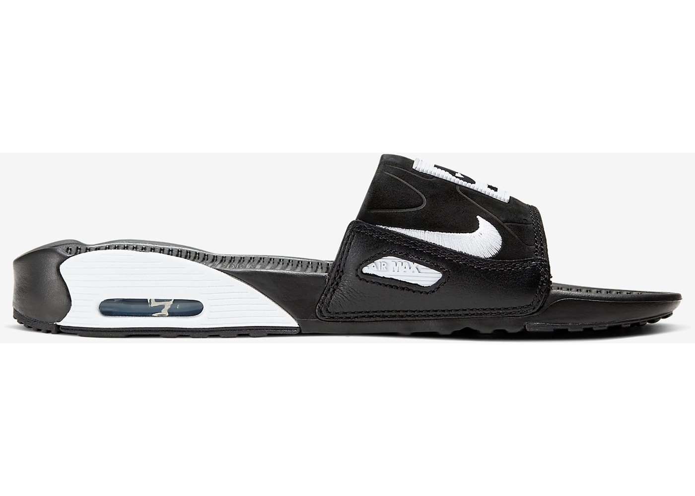 Nike Air Max 90 Slide Black White (W)