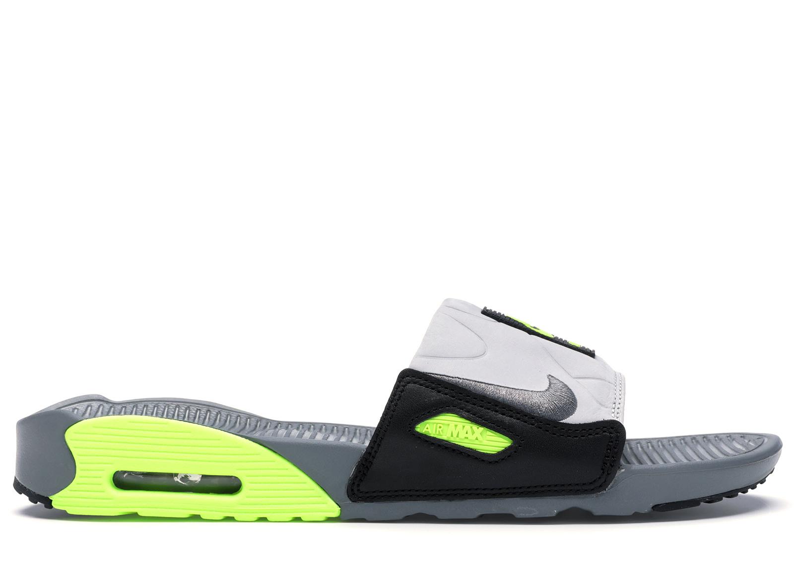 Nike Air Max 90 Slide Smoke Grey Volt Black - BQ4635-001