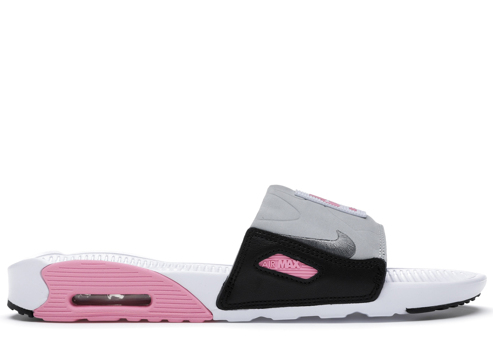 Nike Air Max 90 Slide White Rose Cool Grey - BQ4635-100