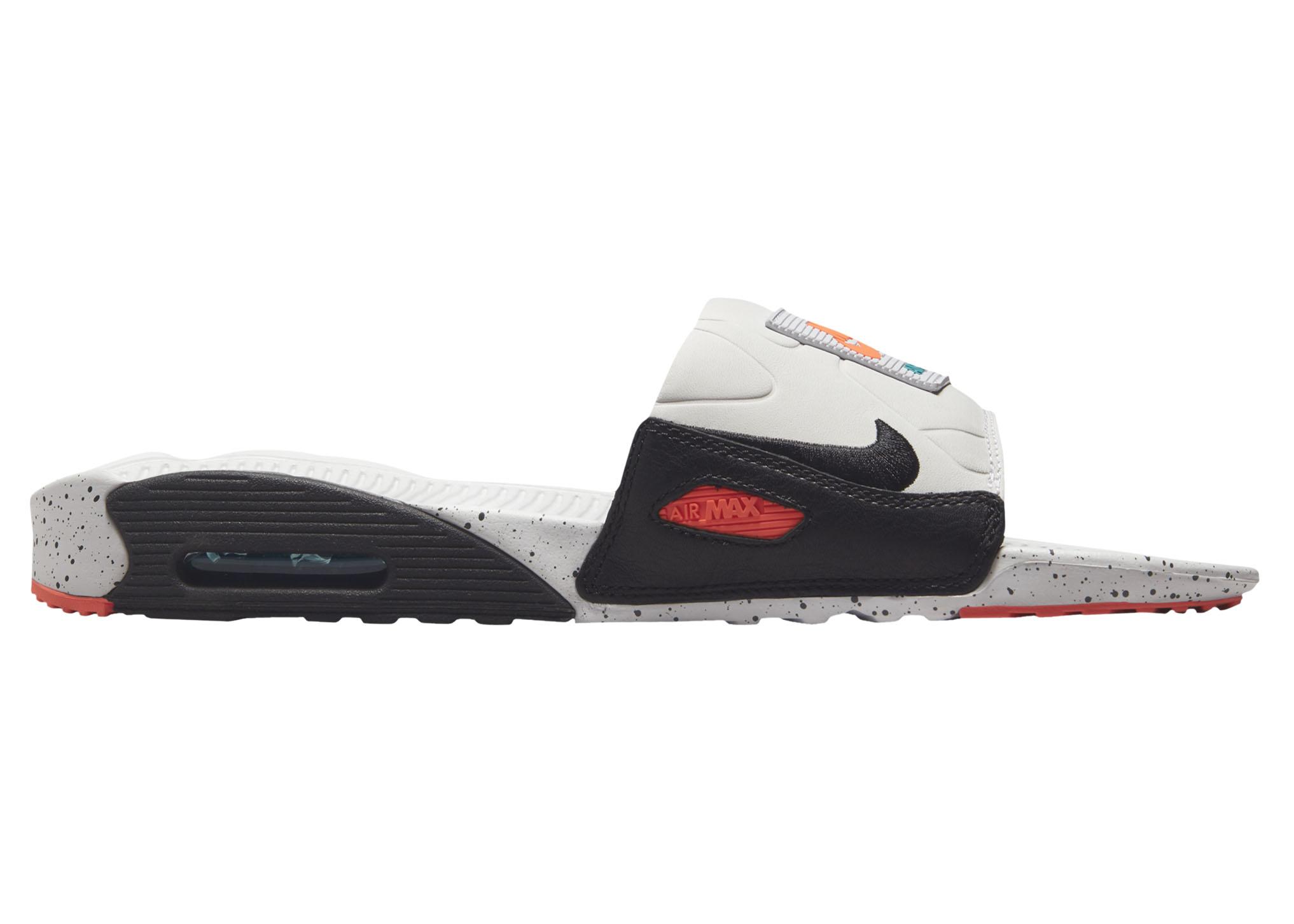 Nike Air Max 90 Slide White Turf Orange Speckled