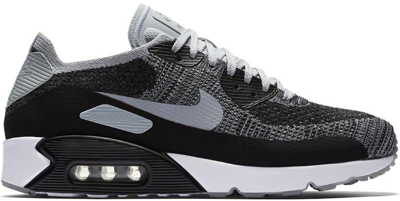Nike Air Max 90 Ultra 2.0 Flyknit Black Wolf Grey