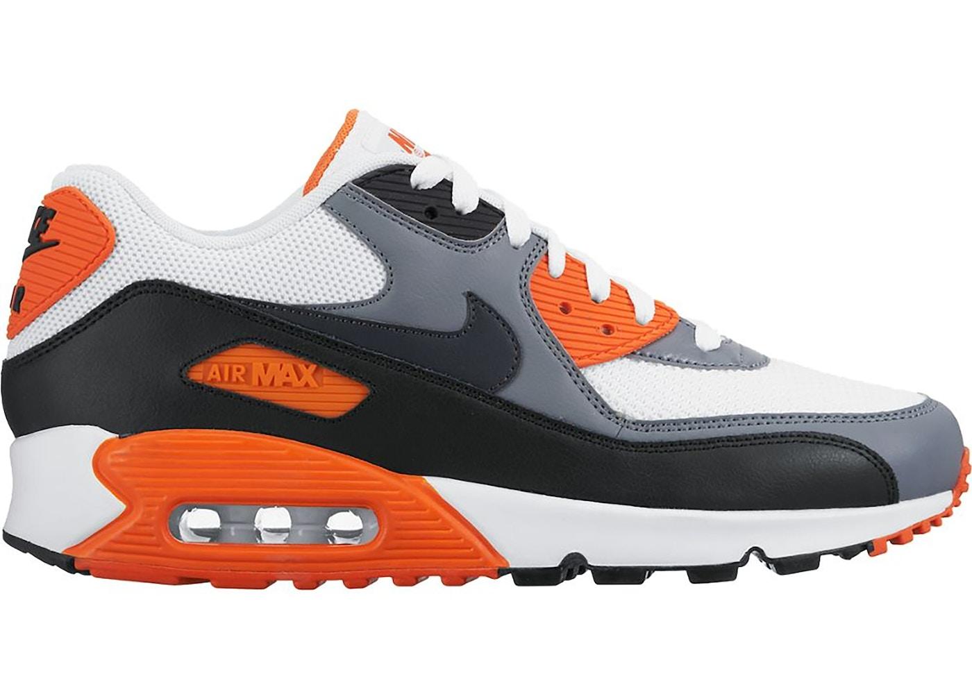 Nike Air Max 90 White Grey Orange - 537384-128