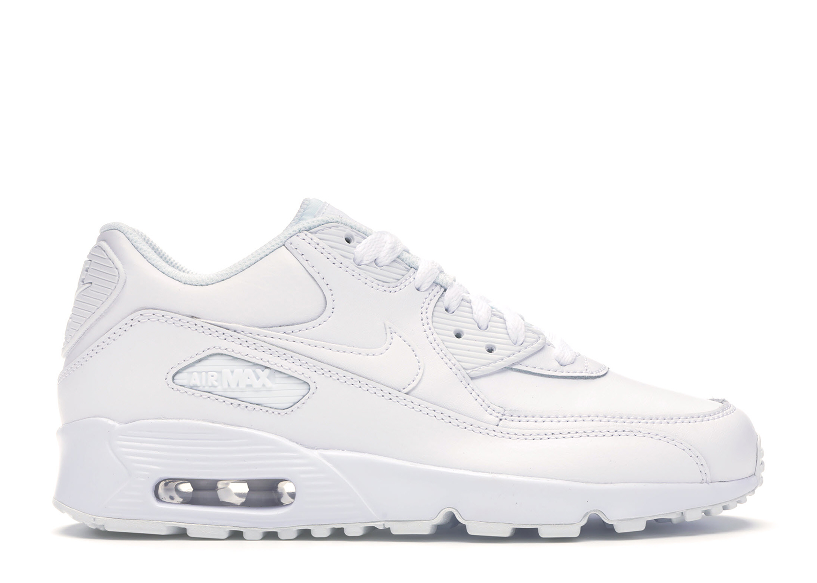 Nike Air Max 90 White Leather (GS) - 833412-100