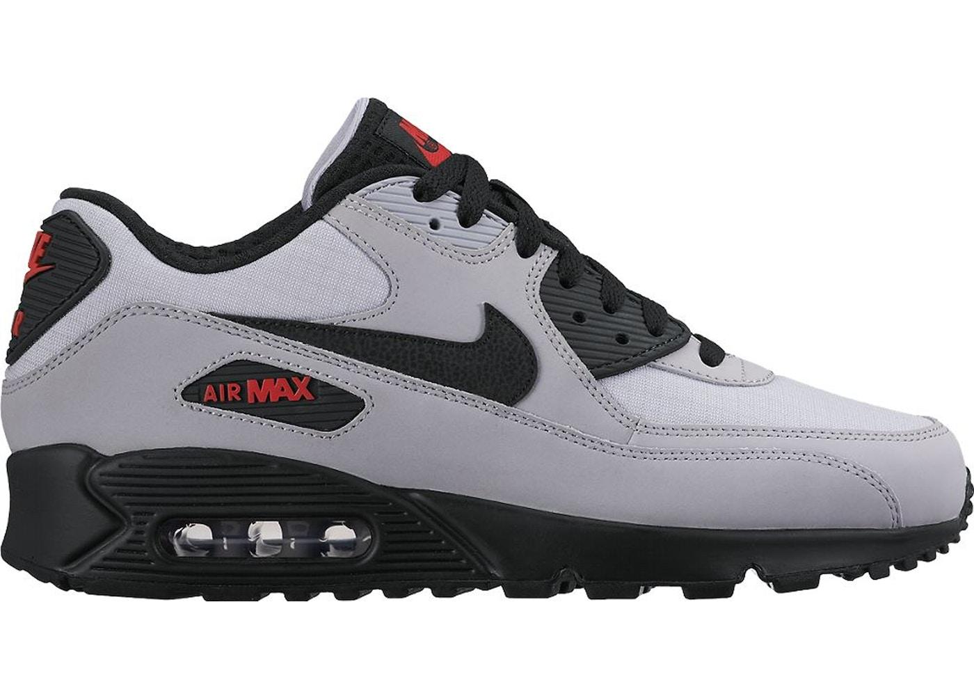 Nike Air Max 90 Wolf Grey Black Red - 537384-049