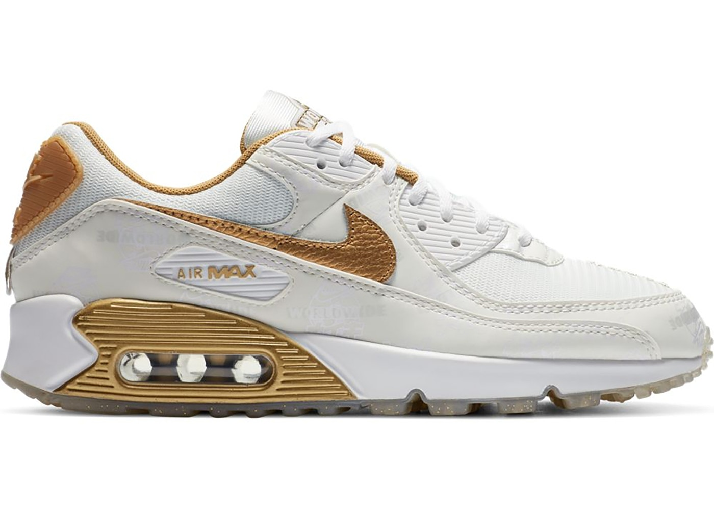 Nike Air Max 90 Worldwide White Gold (W) - DA1342-170