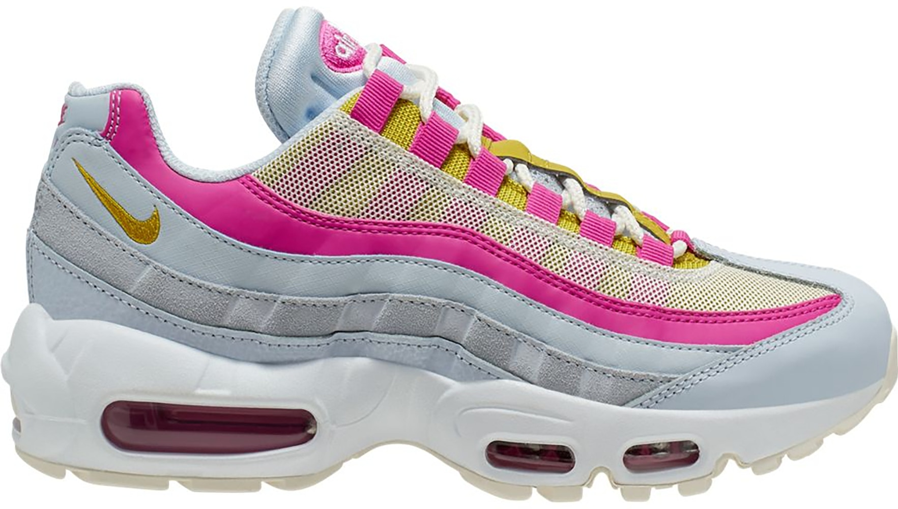 Nike Air Max 95 Football Grey Saffron Quartz Fire Pink (W)