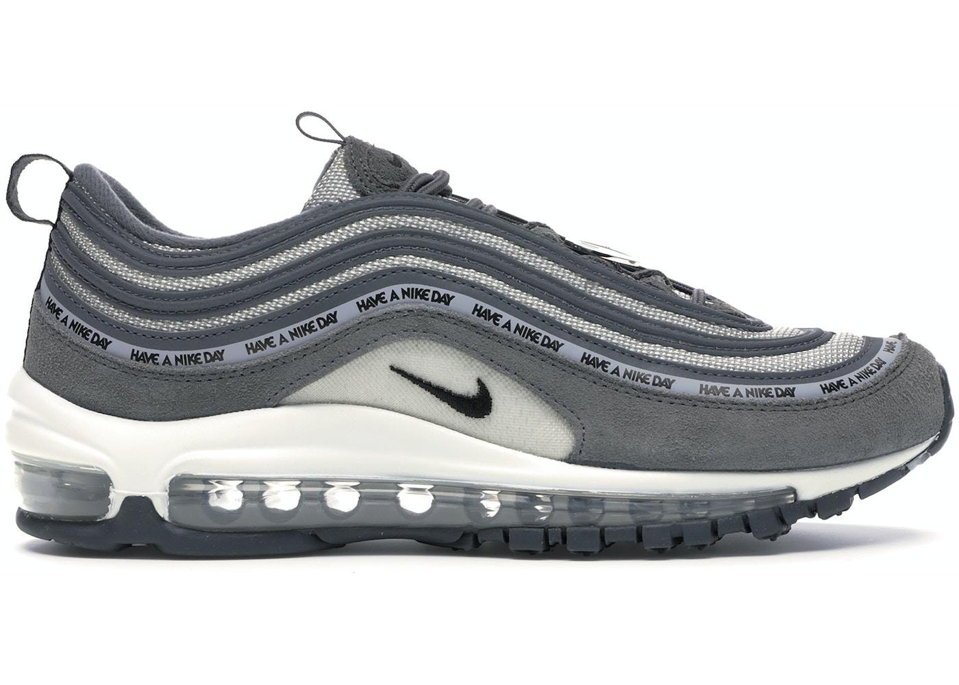 tal vez Hundimiento Chillido  Nike Air Max 97 Have a Nike Day Dark Grey (GS) - 923288-001