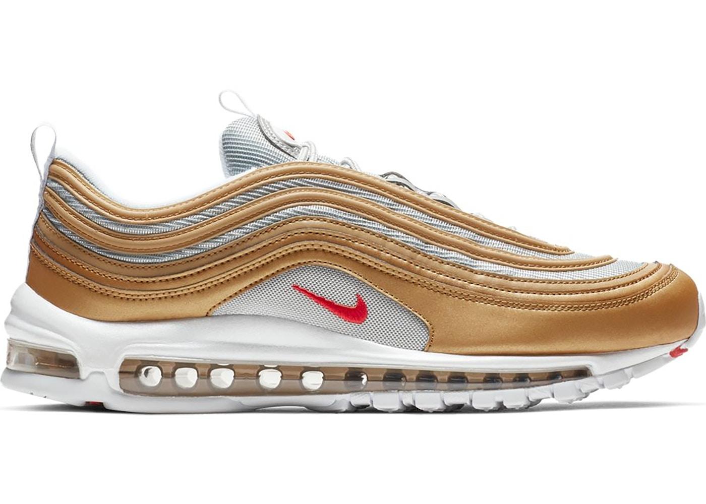 Nike Air Max 97 Metallic Gold University Red