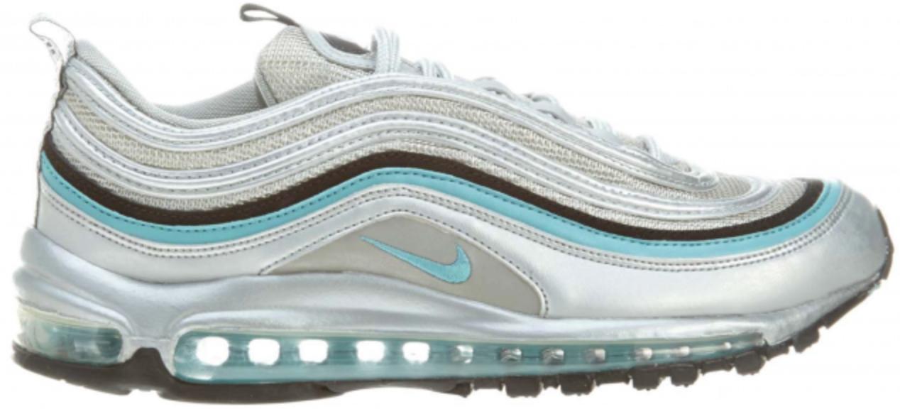 Nike Air Max 97 Metallic Silver Mineral Blue - 312641-018