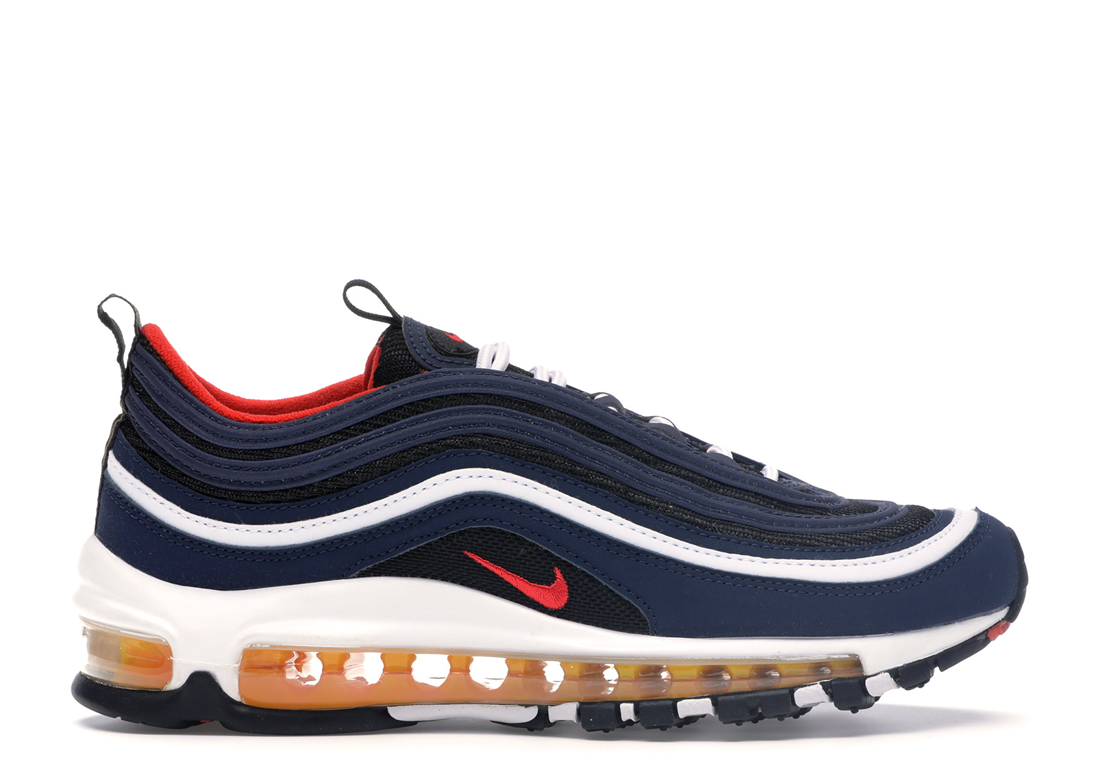 Nike Air Max 97 Midnight Navy Habanero Red (GS)