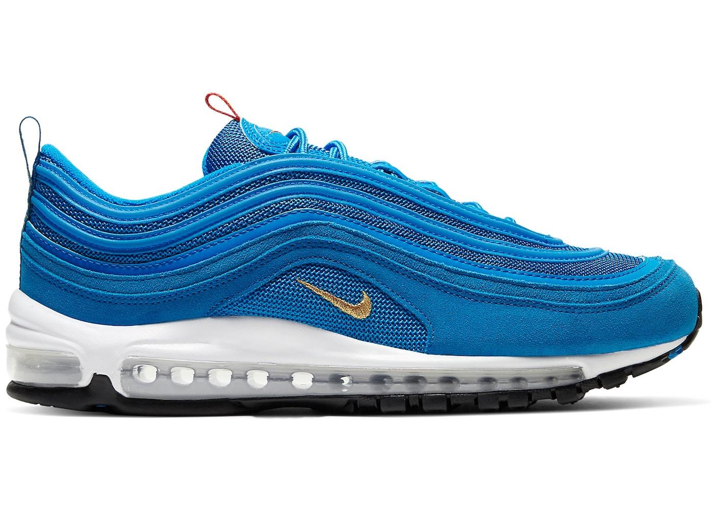 air max 97 blu e oro