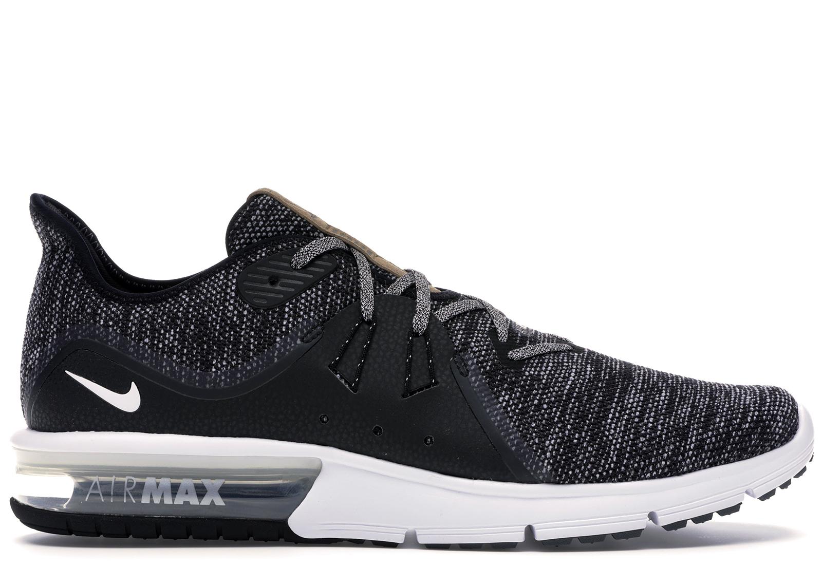 Nike Air Max Sequent 3 Black White-Dark Grey - 921694-011