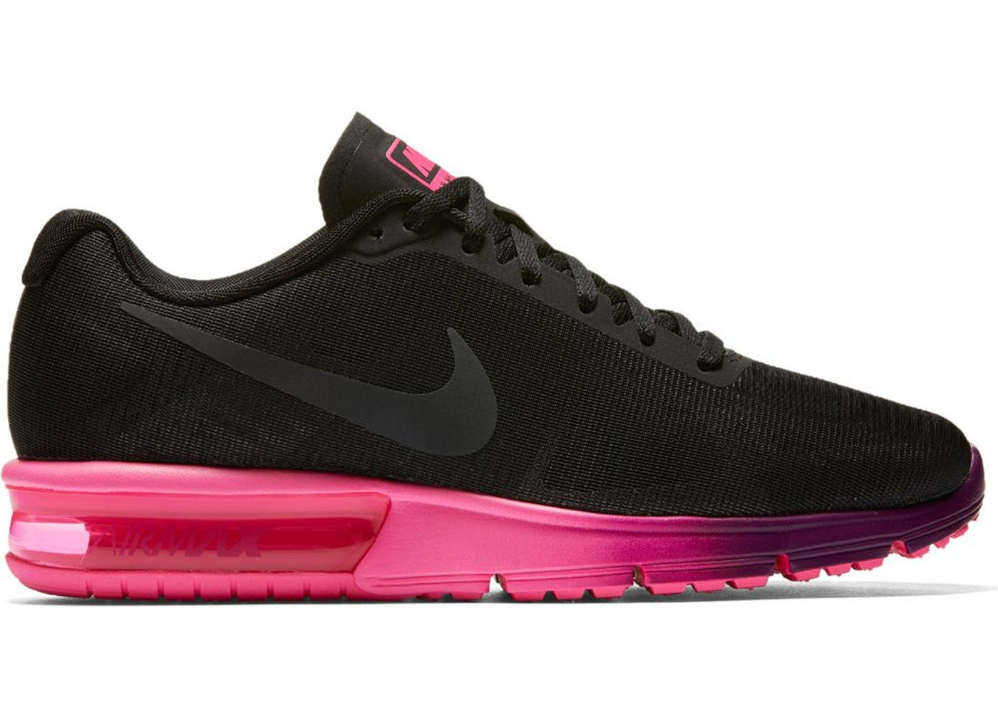 Nike Air Max Sequent Black Pink Blast (W) - 719916-015