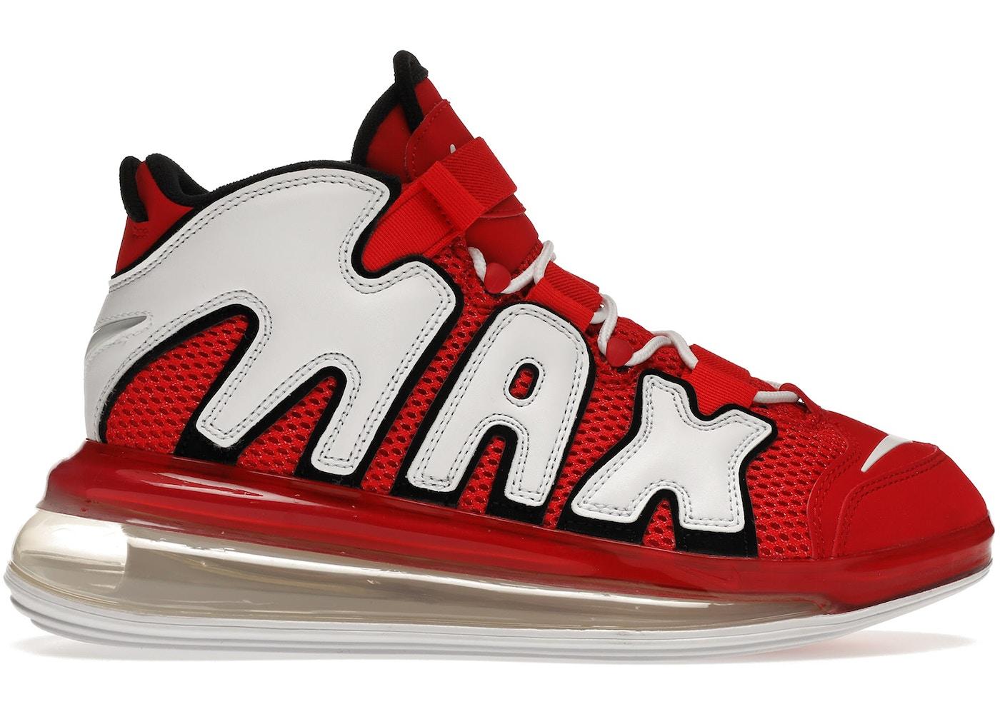 obtener Goma Debilitar  Nike Air More Uptempo 720 University Red White Black - CJ3662-600