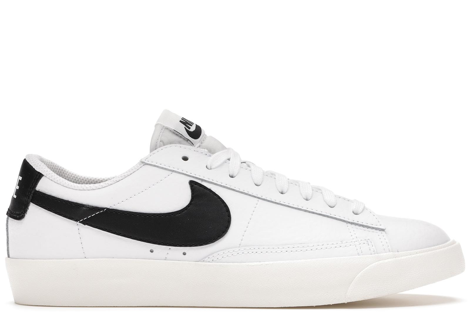 Nike Blazer Low Leather White Black - CI6377-101