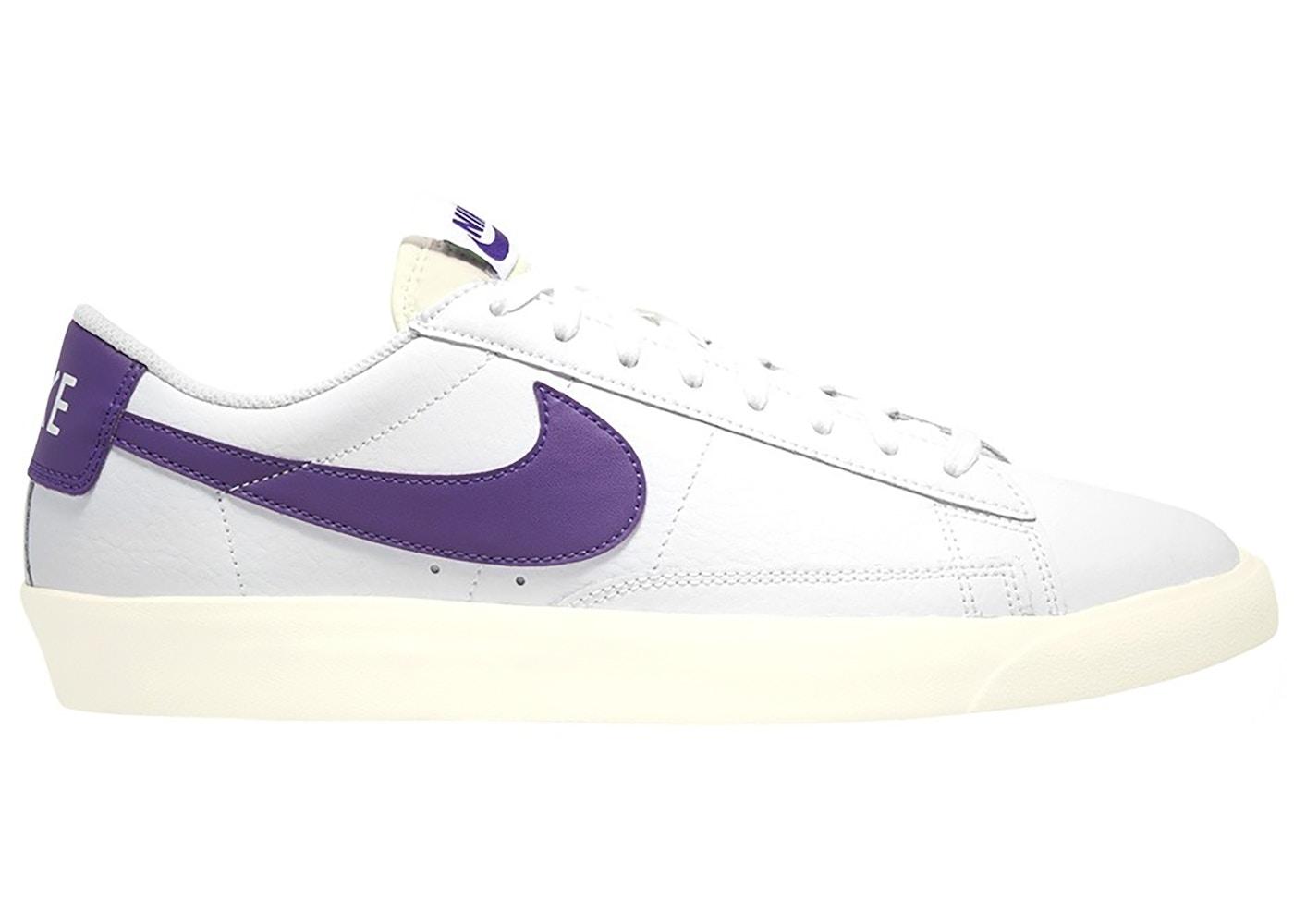 Nike Blazer Low Leather White Purple