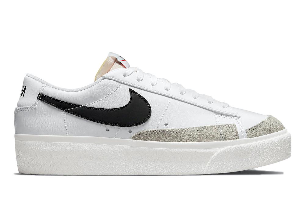 Nike Blazer Low Platform White Black (W)