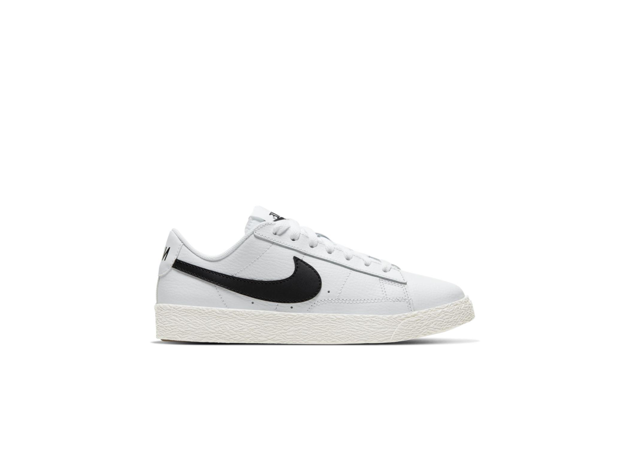 Nike Blazer Low White Black (GS) - CZ7106-101