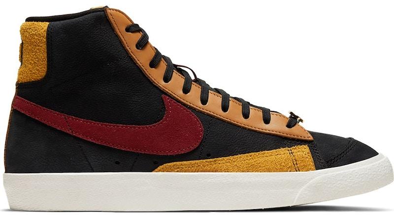 Nike Blazer Mid 77 Black Team Red University Gold (W)