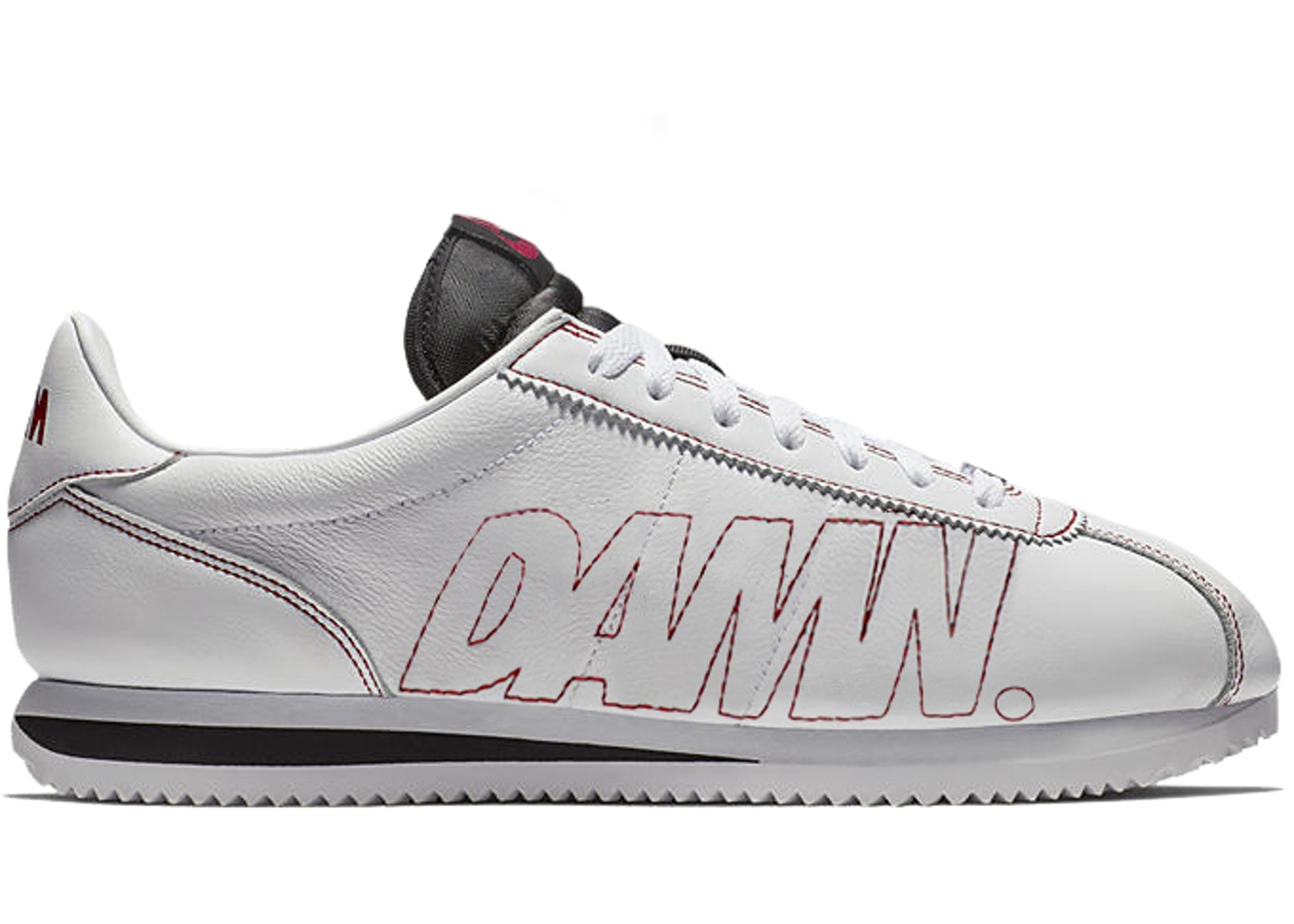 cavar Entrada Histérico  Nike Cortez Kenny 1 Kendrick Lamar Damn White Gym Red - AV8255-106