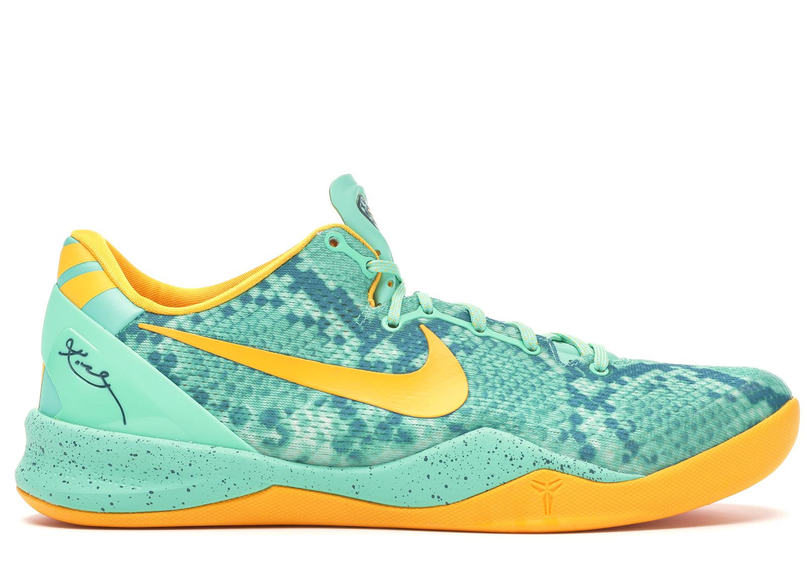 Nike Kobe 8 System Green Glow Laser Orange - 555035-304