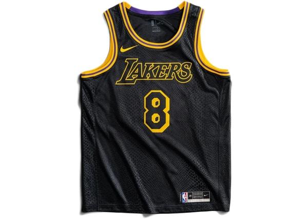Nike Los Angeles Lakers Kobe Bryant Black Mamba City Edition Swingman Jersey Black/Gold