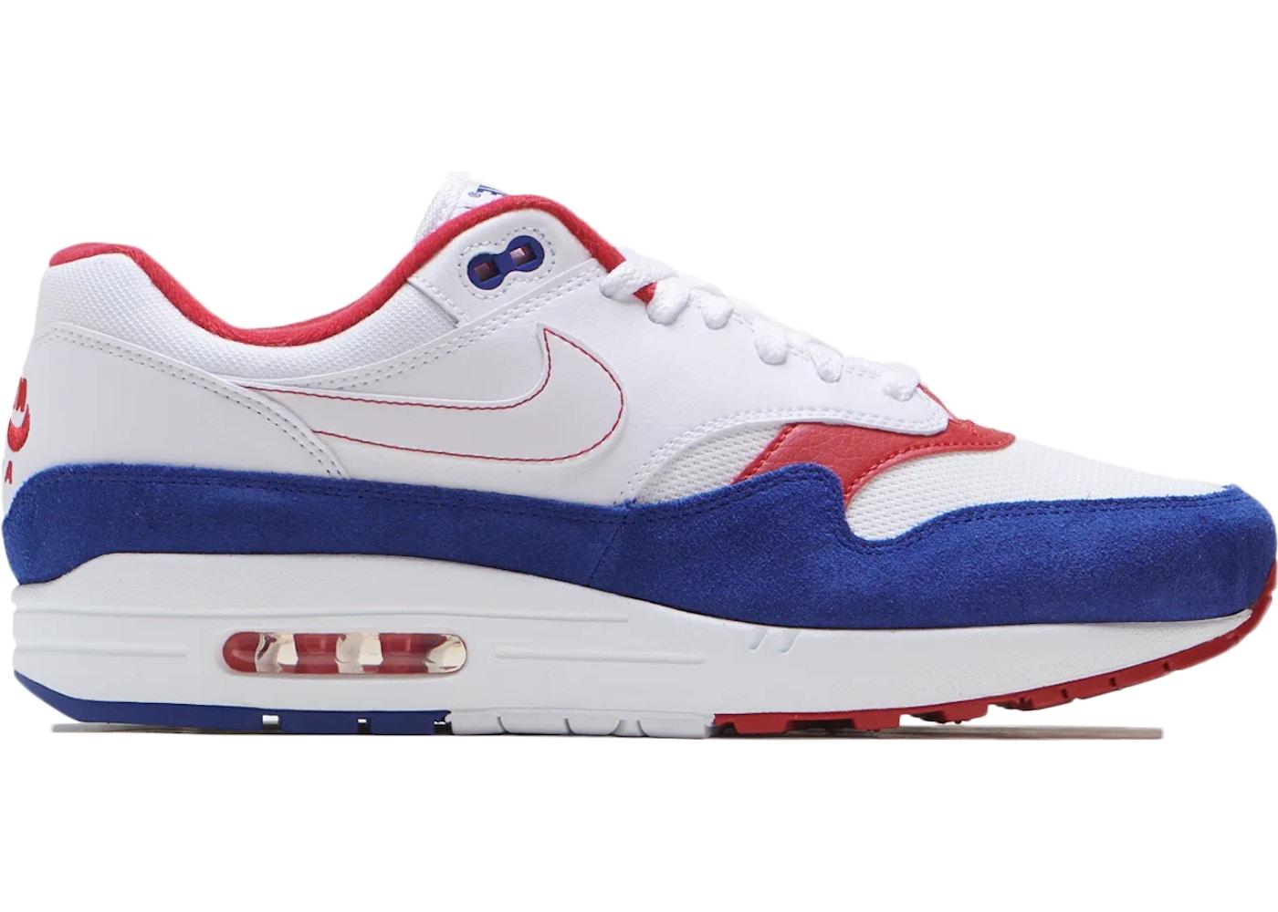 Nike Air Max 1 White Red Blue