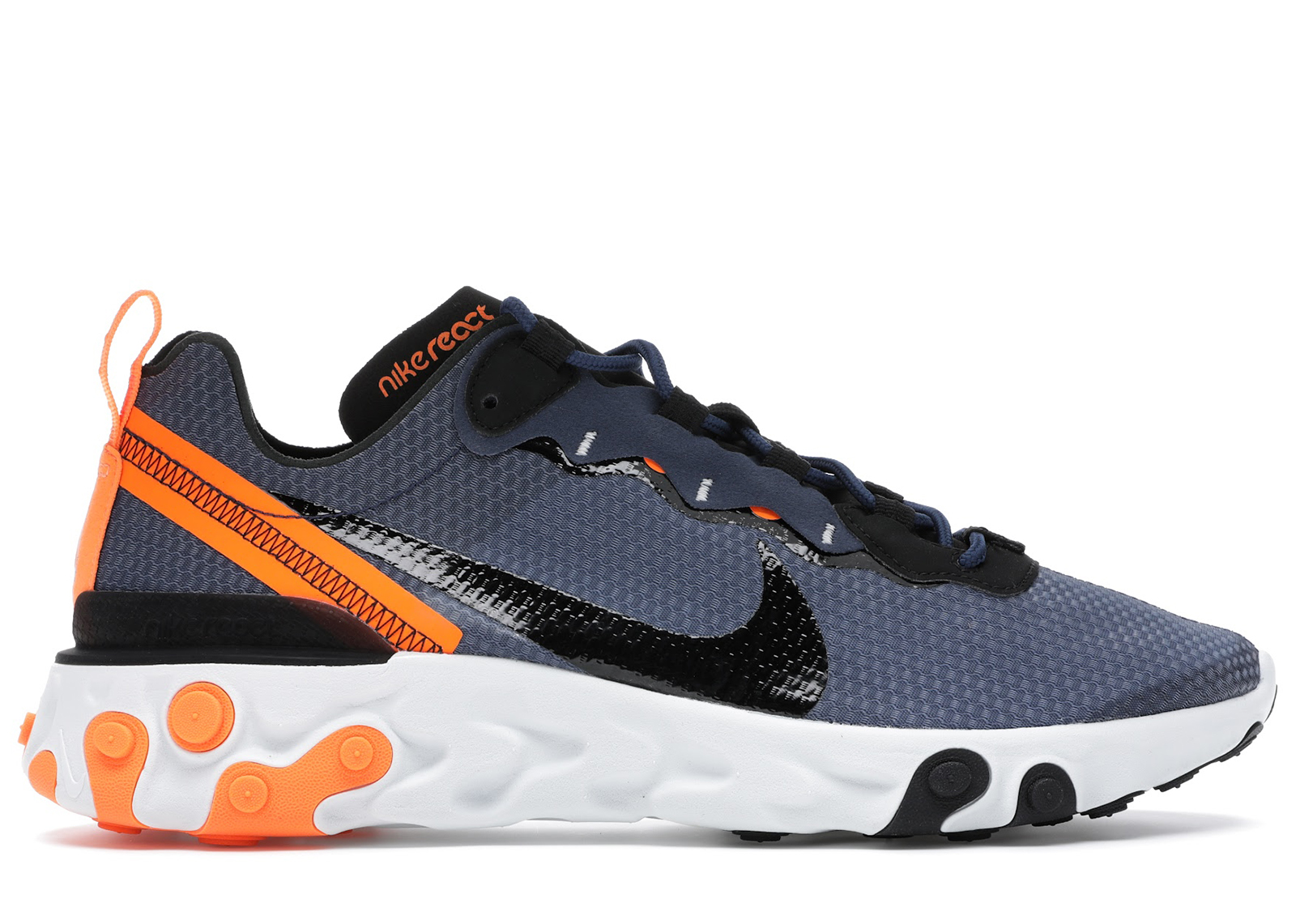 Nike React Element 55 SE Midnight Navy Total Orange