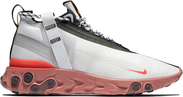 Nike React Runner Mid WR ISPA White Light Crimson - AT3143-100